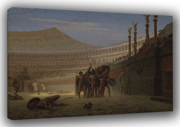 Gerome, Jean Leon: Hail Caesar! We Who are About to Die Salute You (Ave Caesar! Morituri te salutant). Fine Art Canvas. Sizes: A3/A2/A1. (002874)